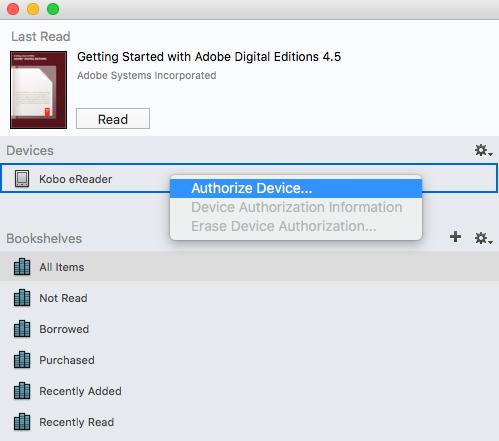 Add eBooks with Adobe Digital Editions – Rakuten Kobo